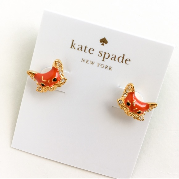 5c92719a85798 Kate spade orange fox earrings NWT
